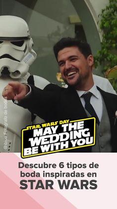 Damos un repaso a los 6 tipos de bodas inspiradas en Star Wars que toda pareja fan de esta película quiere disfrutar… ¡Qué la fuerza nos acompañe! ⚔ #bodasnet #bodatematica #StarWars #BodaStarWars #tiposdeboda #bodaoriginal #noviosfrikis #seguidoresStarWars #saga #películas #LaGuerraDeLasGalaxias Star Wars, Saga, Youtube, Movie Posters, Wedding, Fictional Characters, Best Suits, Personalized Wedding, Mother Of The Bride