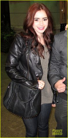 Lily Collins on her way to the wrap party for City of Bones in Toronto, Nov. 3