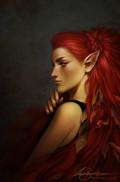 Red Haired Female Elf