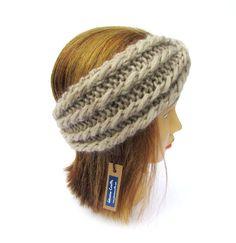 Headband with a twist  light beige knit headband  by Johannahats