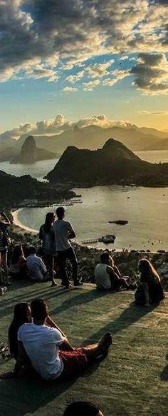 Vista do Rio de Janeiro a partir de Niteroi - Brasil