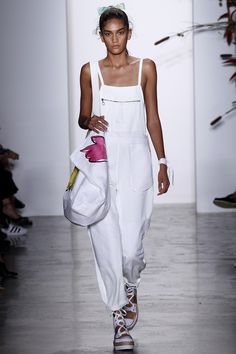 WHITE OVERALLS - my favorite color and garment in one - Adam Selman Spring 2016 Ready-to-Wear Fashion Show