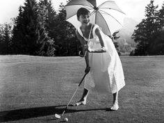 Audrey, barefoot golf
