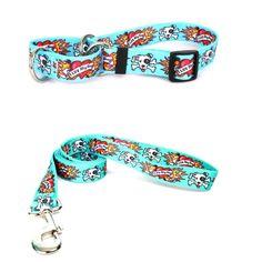 Yellow Dog Design I Luv My Dog Pet Standard Collar and Lead Set
