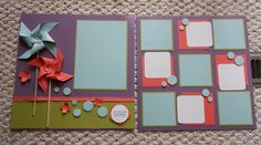 Scrapbook Layout I created using Stampin' UP! products