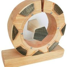 Wood Soccer Ball Savings Bank by Sheldon (Shelly) Rappaport
