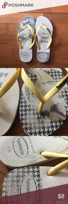 6c54285c73963 Havaianas Cute Sandals Cute worn design Comfy Woman s 9 10 Havaianas Shoes  Sandals Cute Sandals