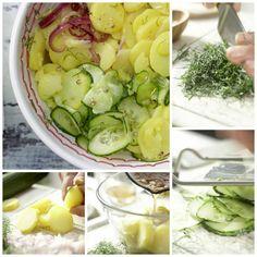 Diesen leckeren Kartoffelsalat können Sie super zum nächsten Campingwochenende mitnehmen: Kartoffelsalat – smarter mit Gurke und Dill | http://eatsmarter.de/rezepte/kartoffelsalat-smarter