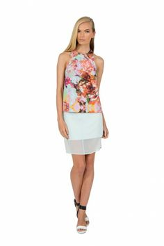 Finders Keepers   Starting Over Skirt   Arctic Blue   Shop Now   BNKR