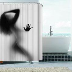 Original Sexy Woman Silhouette Bath/Shower Curtain 180x180