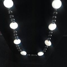 """Black and White Set of Beads Cute set of black and white beads that is a perfect accent to any fashion. Measures 23"""" in length Unbranded Jewelry Necklaces"""