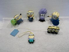 Lot of Despicable Me 2 Minions toy figures stuart dave jorge phil kevin B USED