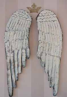 Distressed Wooden Angel Wings