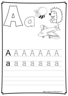 Fise litere | CLASA PREGATITOARE School Lessons, Kindergarten Activities, Kids Education, Beading Patterns, Worksheets, Classroom, Learning, Pdf, Word Search