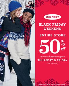 Old Navy Black Friday Deals 2015 OldNavy Black Friday weekend 2015 sale! Plan your shopping early! Old Navy Black Friday, Black Friday 2017 Ads, Online Shopping Deals, Shopping Hacks, Weekender, Old Navy Ad, Money Saving Mom, Get Free Stuff, Cool Things To Buy