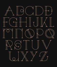 Decorative Typography Inspired by the Art Deco Movement: