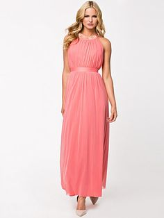 Strap Back Maxi Dress Nelly Exclusive - Elise Ryan - Coral - Juhlamekot - Vaatteet - Nainen - Nelly.com