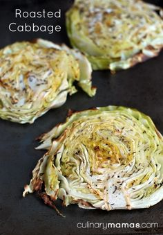 Roasted cabbage is a great accompaniment to corned beef for St. Patrick's Day. #culinarymamas