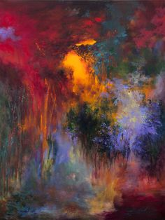 """Saatchi Online Artist Rikka Ayasaki; Painting, """"Passions, Boulogne forest 33 (Painted in 2013, 100x81cm) """" #art"""