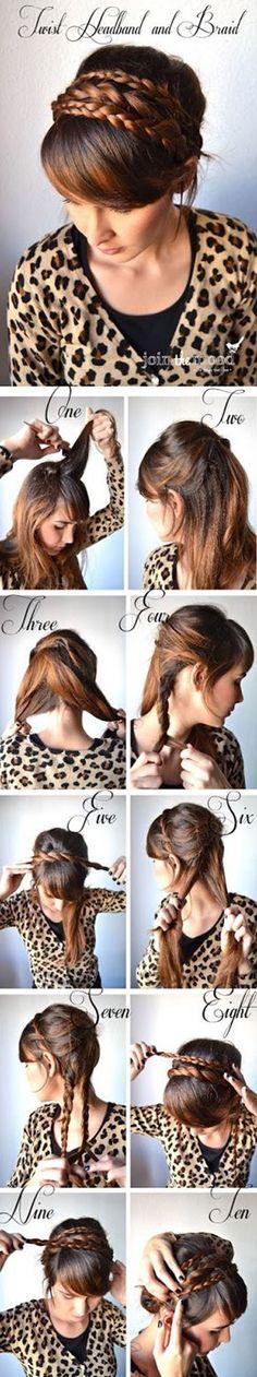 Join the Mood Twist Headband Braid Haare# Hair# Hochsteckfrisur# DIY frisuren frisuren Braided Hairstyles Tutorials, Diy Hairstyles, Pretty Hairstyles, Braid Tutorials, Beauty Tutorials, Hairstyle Ideas, Wedding Hairstyles, Easy Hairstyle, Wedding Updo