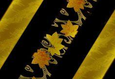 Japanese textile for obi: photo by TENtenko