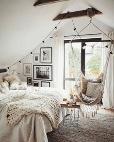 Schlafzimmer Inspiration: Thenordroom Bedroom Ideas For Small Rooms Inspiration Schlafzimmer Thenordroom Modern Bedroom Decor, Stylish Bedroom, Small Room Bedroom, Cozy Bedroom, Couple Bedroom, Girls Bedroom, Attic Bedroom Decor, Bedroom Bed, Master Bedroom