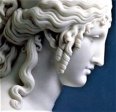 """Was this the face that launch'd a thousand ships, and burnt the topless towers of #Ilium?""~ bust of Helen by Antonio Canova"