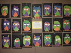 Cute secondary color lesson with owls!