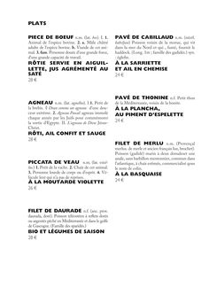 Dictionary-inspired graphic design for Derrière restaurant menu, Paris 3