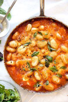 Gnocchi With Pomodoro Sauce   http://foodiecrush.com