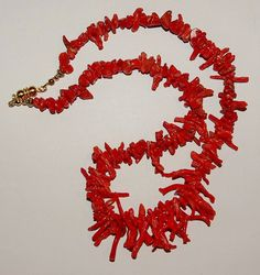 Gorgeous Handmade Natural Red Branch Coral Necklace by SCLadyDi, $75.00