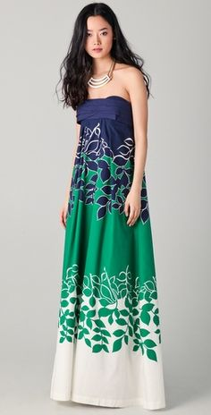 floral print maxi dress - one thousand six hundred and forty five dollars?!?!? For cotton?!?!? Pretty but GOOD LAWD!