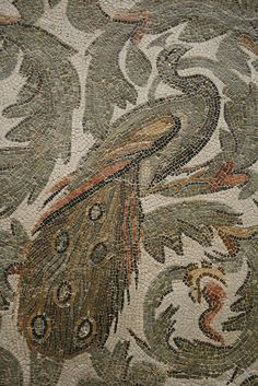 Roman peacock mosaic.