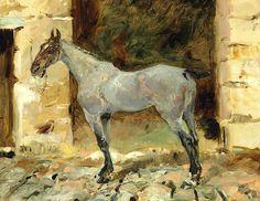 bofransson:    Henri De Toulouse-Lautrec (1864-1901) Cheval attaché