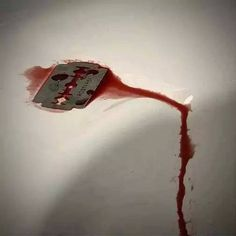 razor blade/ blood / sink
