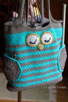Ravelry: Owl Tote Bag by Karla Sandoval