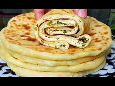 Хачапури☆На сковороде! Вот как надо готовить Самые Вкусные кефирные лепёшки‼ - YouTube Keto Recipes, Cooking Recipes, Medvedeva, Pizza, Zucchini Bread, Food To Make, Pancakes, Snacks, Baking