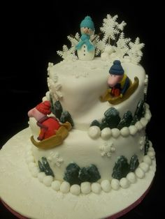 Mr and Mrs Claus by DeVoliCakes | Christmas Cakes | Pinterest ...