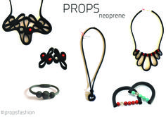 Neoprene + Corals + Turquoise + Silver 925 PROPS! #propsfashion Follow PROPS: https://www.etsy.com/shop/PROPSfashion https://www.facebook.com/propsfashion http://instagram.com/nefellyprops http://propsfashion.wordpress.com/