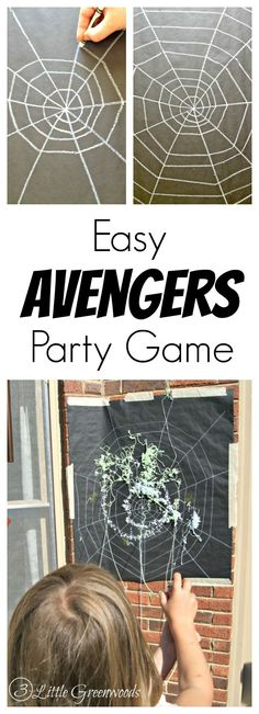 MUST PIN Superhero party idea! Make this Easy Avengers Party Game for a kids birthday party! You won't believe how simple it is to make! 3 Little Greenwoods