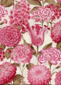Love this pink floral fabric.