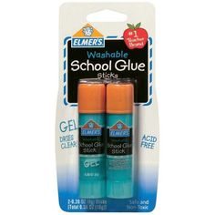 Elmers Washable School Glue Gel Sticks-.28 Ounce 2/Pkg ❤ liked on Polyvore featuring home and home improvement