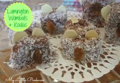 Lamington wombats and koalas. A perfect treat to celebrate Australia Day_ My Little Bookcase Animal Themed Birthday Party, Animal Party, Wombat Stew, Australia Day Celebrations, Australia Crafts, Magic Crafts, Australian Animals, School Holidays, Craft Activities