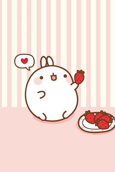 Molang ★ Find more super cute Kawaii wallpapers for your #iPhone + #Android @prettywallpaper