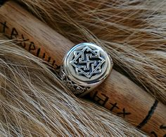 Handcrafted Slavic Ring Sterling Silver Norse by BerlogaWorkshop