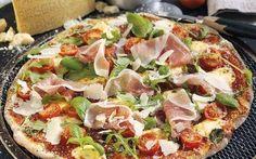 Parmigiano Reggiano, Parma Ham and Basil Pizza