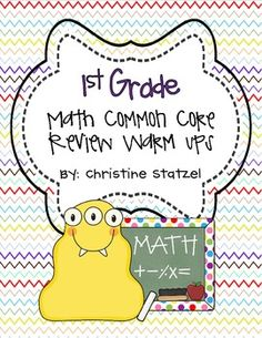 Math Common Core Warm Ups! Can be used for homework or as an assessment!