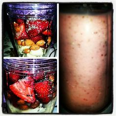 I just made myself a NutriBullet Drink Smoothie it came out 1 1/2 Bananas, Strawberries, Almonds, ChiaSeed and Water..#09182013 #Hawaii