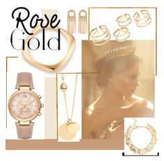 """Rose Gold"" by sahrish-hossain ❤ liked on Polyvore featuring Anastasia, Fred Leighton, Melrose & Market, Michael Kors, Ternary London and Oscar de la Renta"
