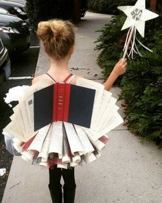 Book fairy costume recycled books skirt and wings made from recycled books!Book fairy costume recycled books skirt and wings made from recycled books! Halloween Parade School PlayOver 30 creative uses for old